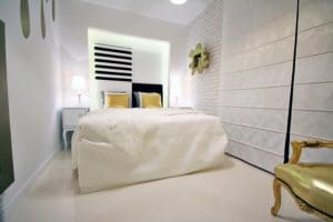 Wąska sypialnia - nieustawny pokój