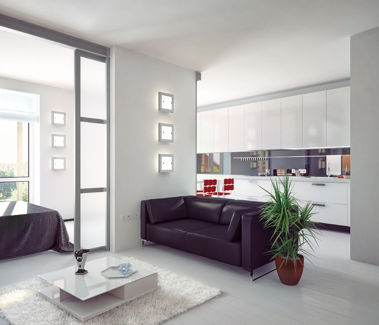 15381807 - modern style apartment photorealistic  illustration