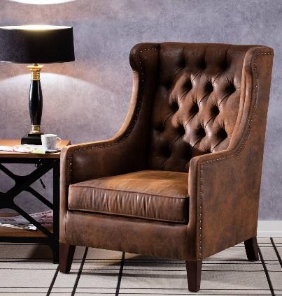Skórzany fotel nada wnętrzu salonu niepowtarzalny klimat. Zobacz, gdzie kupić ten mebel.