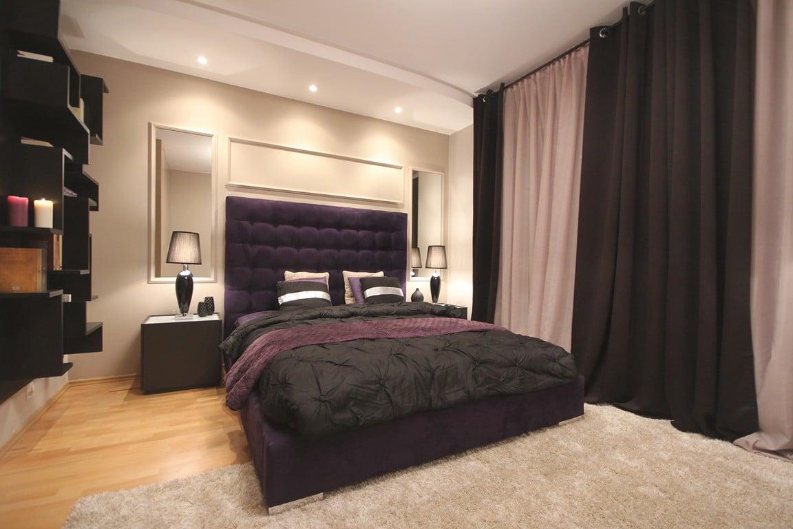 magiczna sypialnia czyli fiolet w roli g�243wnej dekoradypl
