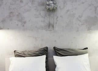 Betonowa ściana we wnętrzu - beton architektoniczny