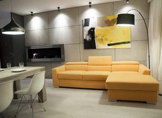 Beton architektoniczny na ścianie jako ozdoba wnętrza