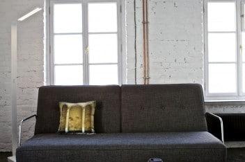 Studio w loftowym klimacie