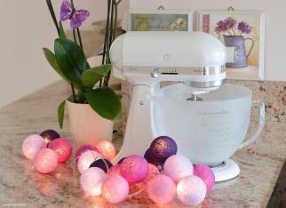 Kolorowe lampki Cotton Ball Lights