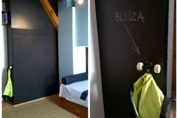 Czerń w pokoju dziecka - farba tablicowa