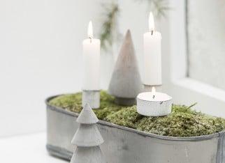 Dekoracje świąteczne w skandynawskim stylu - światło