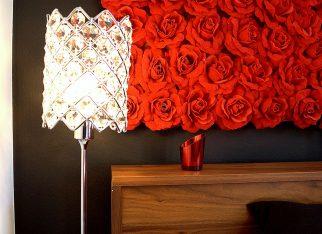 Lampka nocna w stylu glamour