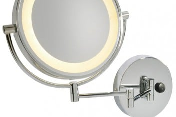 Dodatkowe oświetlenie w łazience: lustro kinkiet