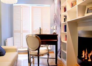 Drewniane shuttersy w biurze