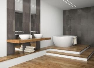 Drewno - płytki imitujące drewno w łazience