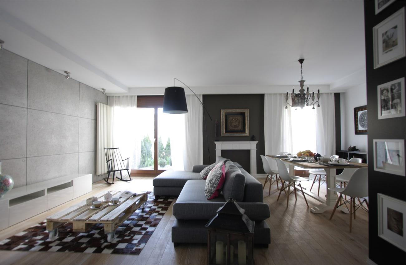 mieszanka styl w czyli eklektyczny salon deko. Black Bedroom Furniture Sets. Home Design Ideas