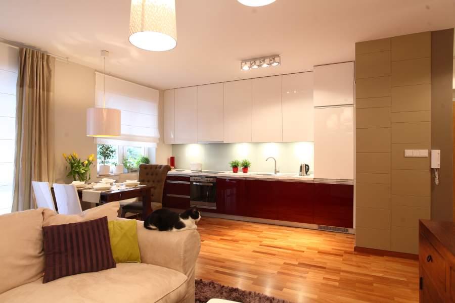 salon w stylu eklektycznym z miejscem do pracy deko. Black Bedroom Furniture Sets. Home Design Ideas