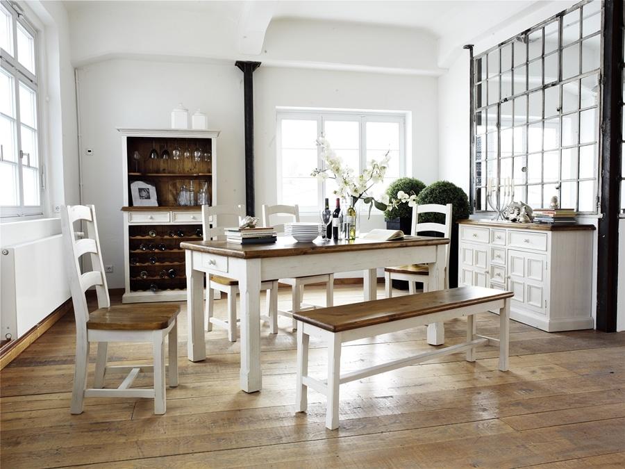 nowoczesna jadalnia w rustykalnym stylu. Black Bedroom Furniture Sets. Home Design Ideas