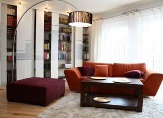 Pomaranczowa kanapa do salonu