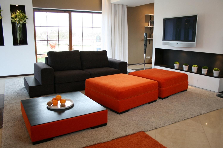 Kolorowa kanapa w pokoju dziennym nasze pomys y na design for Salon for u homagama