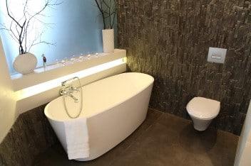 Łazienka stylizowana na styl eko