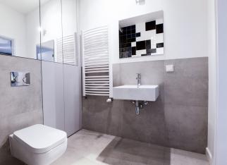 Mała łazienka w loftowym stylu