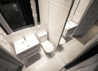 Mała łazienka w stylu nowoczesnym