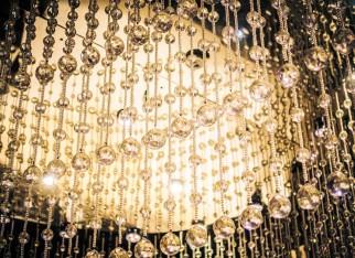 kryształy we wnętrzu glamour