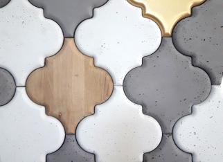 panel inpire, decopanel, panel dekoracyjny beton drewno, złote płytyki decopanel