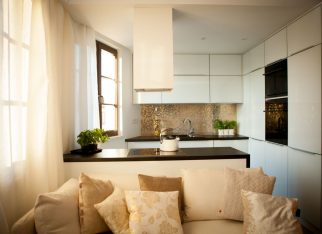 Złota mozaika w kuchni
