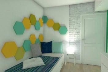 Miękkie panele ścienne w pokoju dziecięcym