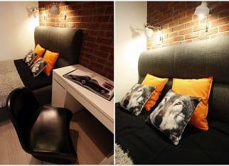 Sypialnia w studenckim stylu