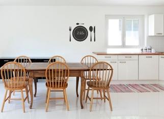 Tablicowe naklejki na ścianę do kuchni