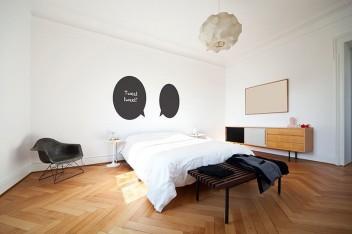 Tablicowe naklejki na ścianę do sypialni