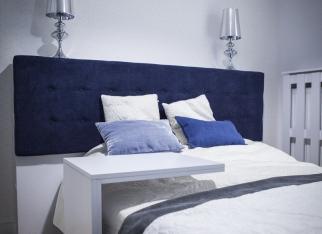 Sypialnia w odcieniach niebieskiego