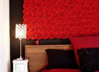 Romantyczna, nowoczesna sypialnia