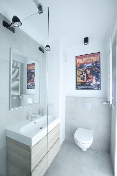 Mała Męska łazienka W Betonie Pomysł Na Ciekawą Aranżację