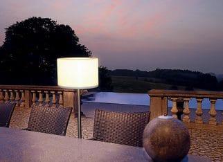 Lampa stojąca z abażurem - Spotline