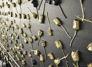 Panele ścienne 3D róże