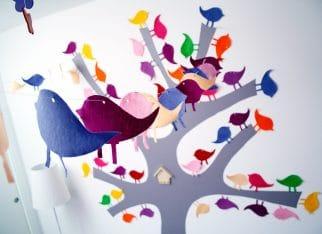 Girlanda z ptaszków