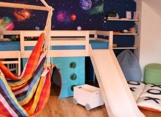 Łóżko ze zjeżdżalnią