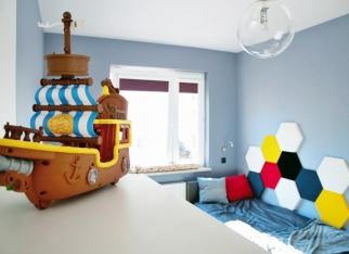 Wystrój w pokoju dziecięcym