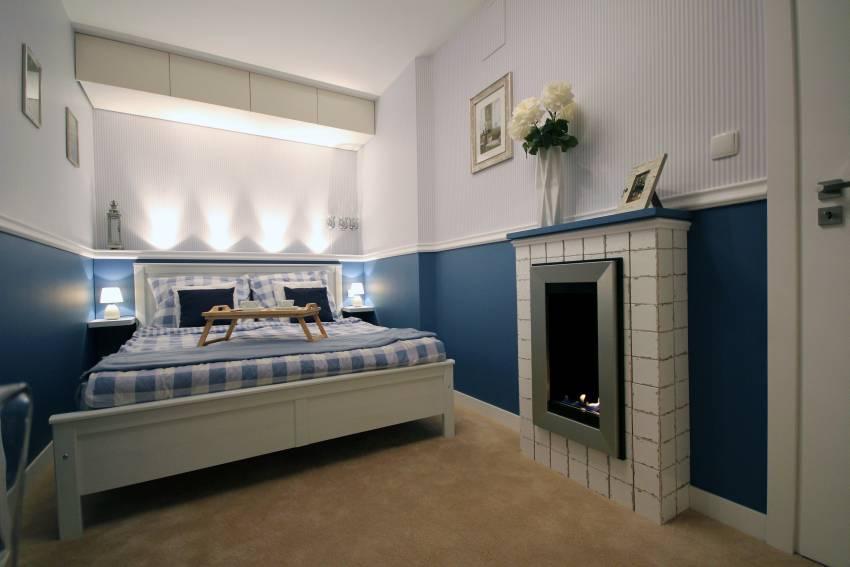 Sypialnia W Bieli I Błękicie Greckie Wakacje Deko Radypl