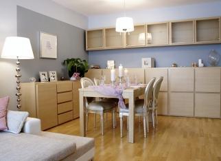 Salon z jadalnią w stylu eko