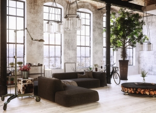 Large spacious converted loft interior