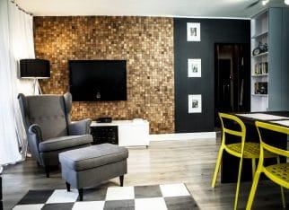 Płytka Pixel w salonie