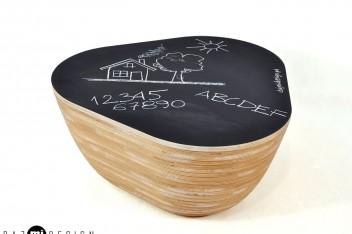 Niski Puf od Daj mi design - blacktop