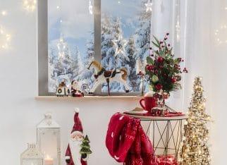 Świąteczna aranżacja salonu