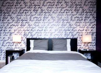 Sypialnia z fototapetą