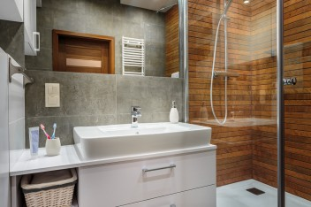 Elegant bathroom interior