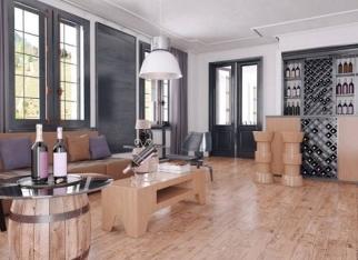 Aranżacje w stylu DIY - drewno w salonie