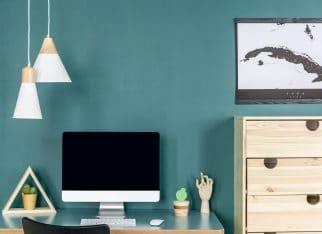 biuro zielone w domu