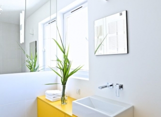 424 odcinek - żółta szafka w łazience