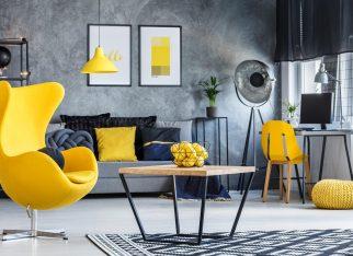 zolty-kolor-w-domowym-biurze