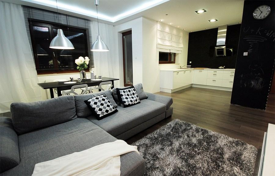 salon z aneksem deko. Black Bedroom Furniture Sets. Home Design Ideas